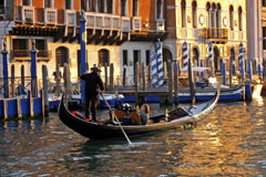 Gondolier in Canal