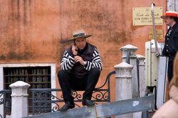 Venice09-128 Gondolier