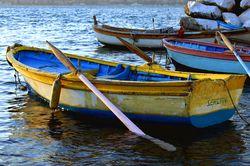 Yellow Boat in the Bosphorus