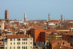 Rooftop view over Venice