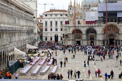 View of St Mark's Square from Correr