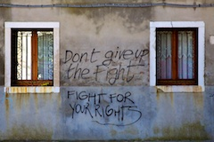 Don't give up the fight!