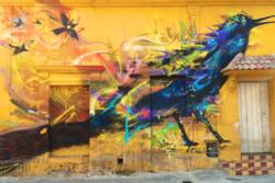Mural in Trinidad Square  Cartagena